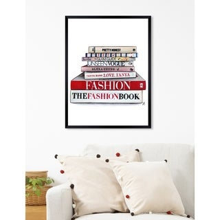 Oliver Gal  'Doll Memories - Glam Library' Fashion Framed Wall Art - Red