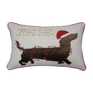 Pillow Perfect Spread Cheer Dachshund 11.5x18.5-inch Lumbar Pillow