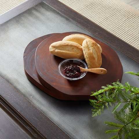 Handmade Round Bread Board, Set of 2 (Indonesia)