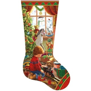 Shaped Christmas Stocking Puzzle for Boy