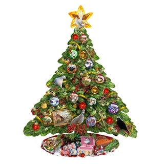 Shaped Christmas Tree Puzzle 12 Days of Christmas
