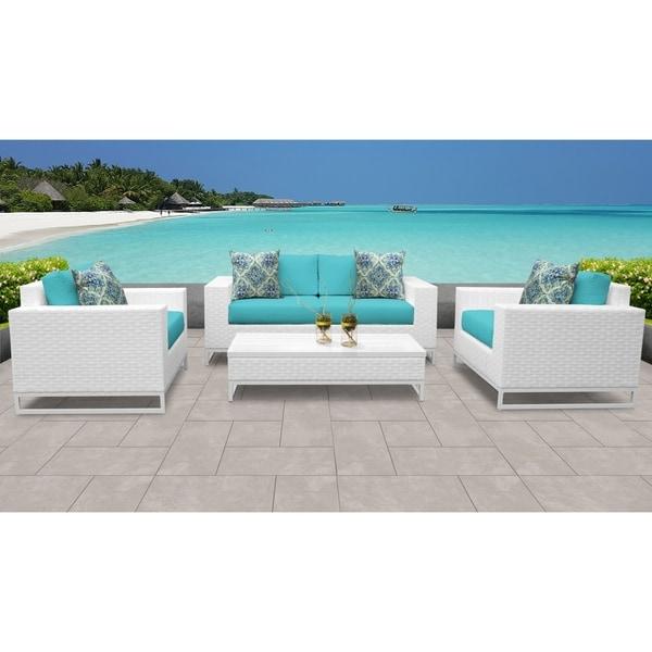 Outdoor Patio Furniture Miami: Shop Miami 5 Piece Outdoor Wicker Patio Furniture Set 05f
