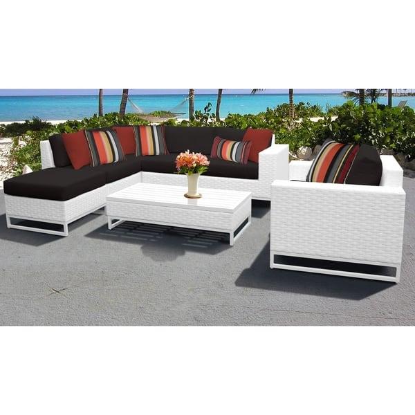 Fine Shop Miami 7 Piece Outdoor Wicker Patio Furniture Set 07F Cjindustries Chair Design For Home Cjindustriesco