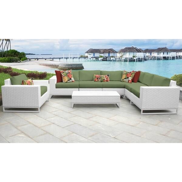 Miraculous Shop Miami 8 Piece Outdoor Wicker Patio Furniture Set 08B Cjindustries Chair Design For Home Cjindustriesco