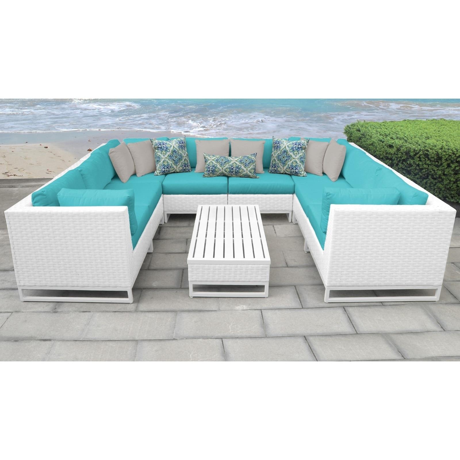 Miami 9 Piece Outdoor Wicker Patio Furniture Set