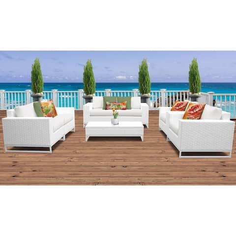 Miami 7 Piece Outdoor Wicker Patio Furniture Set 07c