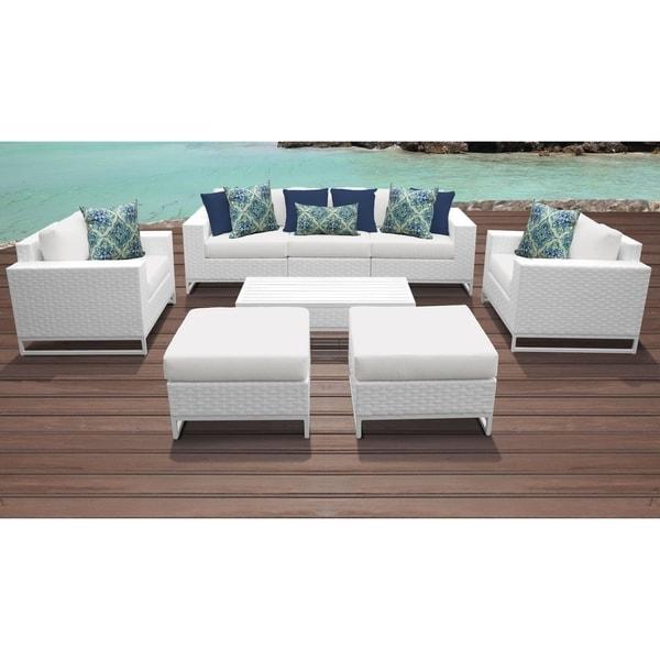 Patio Furniture Stores Miami Florida: Shop Miami 8 Piece Outdoor Wicker Patio Furniture Set 08a