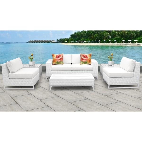 Outdoor Patio Furniture Miami: Shop Miami 7 Piece Outdoor Wicker Patio Furniture Set 07e