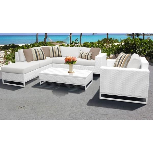 Outdoor Patio Furniture Miami: Shop Miami 7 Piece Outdoor Wicker Patio Furniture Set 07f
