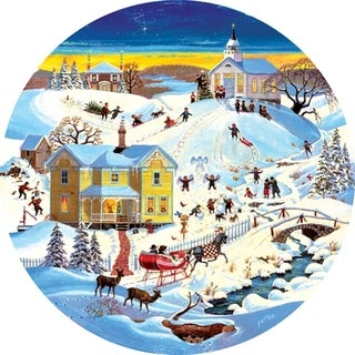 Round Puzzle Grandmother's House 500 Piece Puzzle