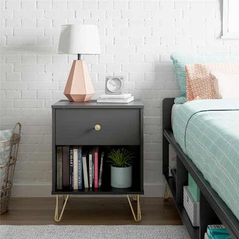 Novogratz Owen Black Nightstand