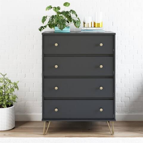 Novogratz Owen Black 4 Drawer Dresser
