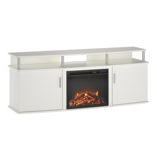 Shop Avenue Greene Ford White Electric Fireplace Tv