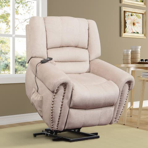 Harper & Bright Designs Wilshire Series Heavy-Duty Power Lift Recliner Chair with Built-in Remote