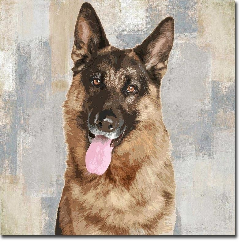 Shop German Shepherd By Keri Rodgers Gallery Wrapped Canvas Giclee Art 24 In X 24 In Ready To Hang On Sale Overstock 23624261