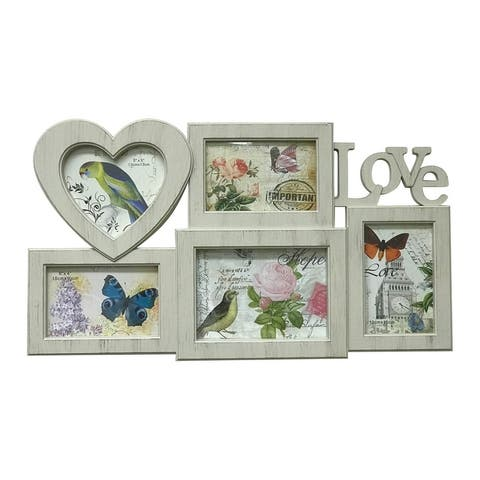 Creative Motion 5 Heart Decorative Photo Frames with Love Design