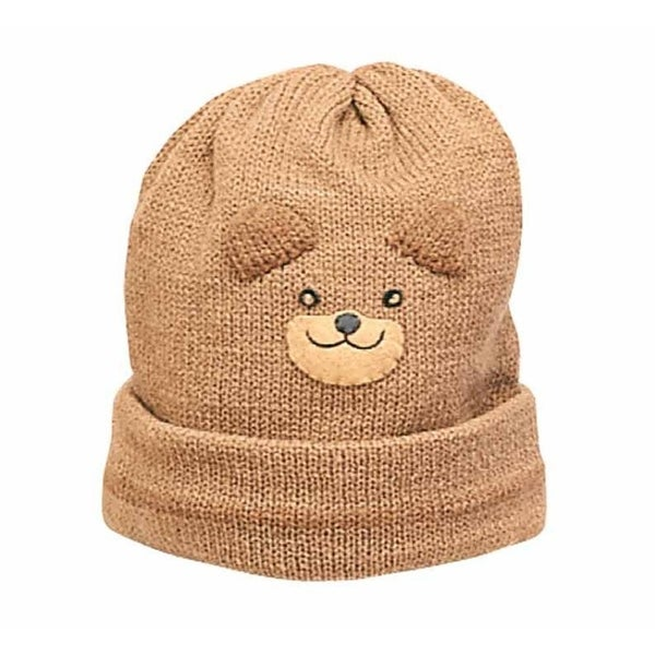 Kidorable Adorable Novelty Knit Hat - Bear, One Size, Brown, lightweight