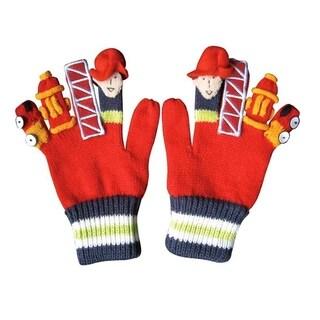 Fireman Knit Gloves Medium