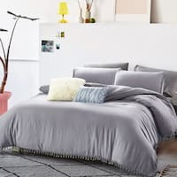 Relaxed Fringes Washed Comforter Set