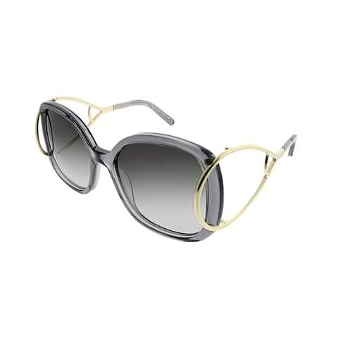 dd0c394135d5 Chloe Square CE 702S Jackson 035 Women Grey Frame Grey Gradient Lens  Sunglasses