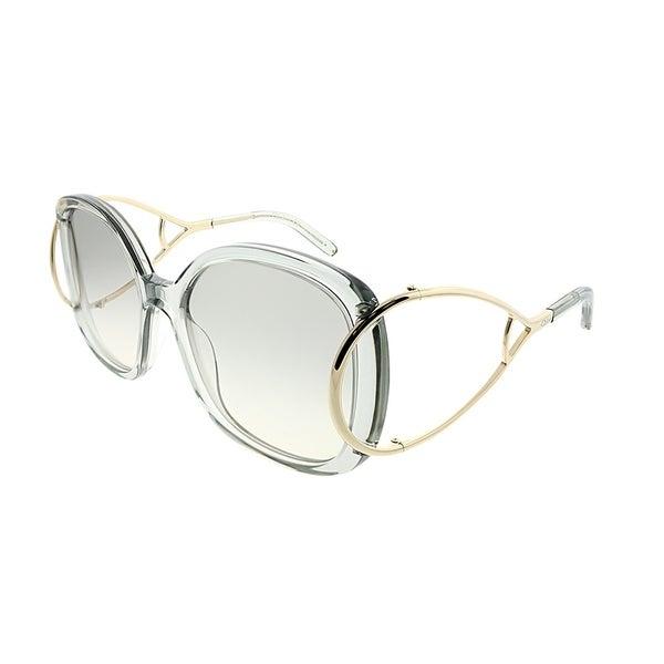 0707374943a9 Chloe Square CE 702S Jackson 038 Women Light Grey Frame Grey Gradient Lens  Sunglasses