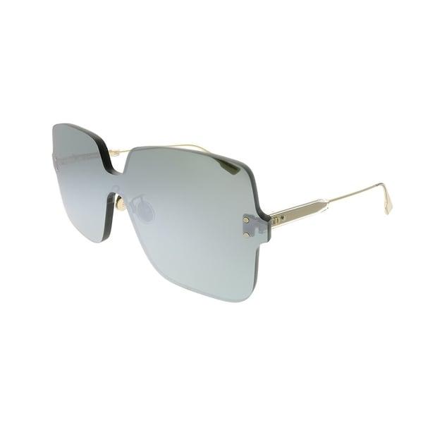 ed898518d98f Dior Square Dior Color Quake 1 YB7 T4 Women Silver Frame Silver Mirror Lens  Sunglasses