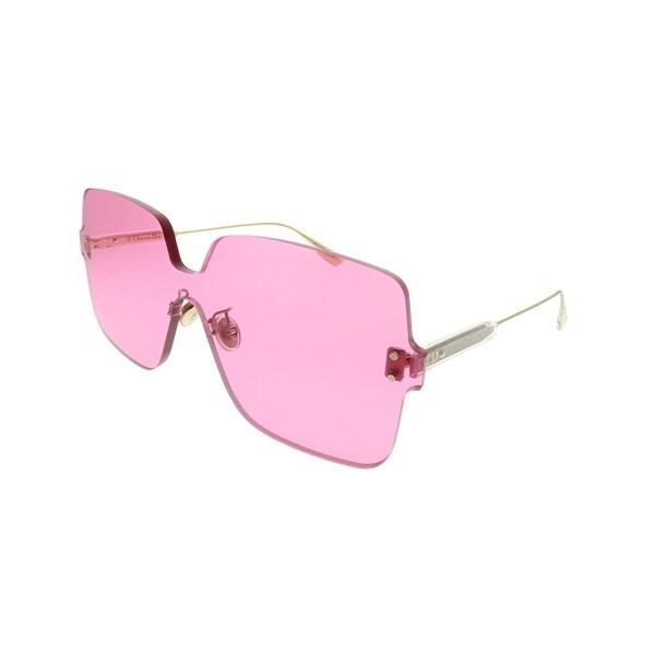 68971b8dcc4c6 Dior Square Dior Color Quake 1 MU1 U1 Women Fuchsia Frame Pink Lens  Sunglasses