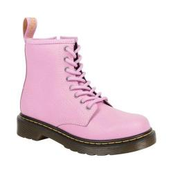 Children's Dr. Martens Delaney 8 Eye Side Zip Boot - Youth Mallow Pink Pebble Lamper Embossed Leather