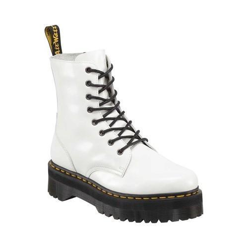 5da91def6f0 Dr. Martens Jadon 8-Eye Boot White Polished Smooth Leather