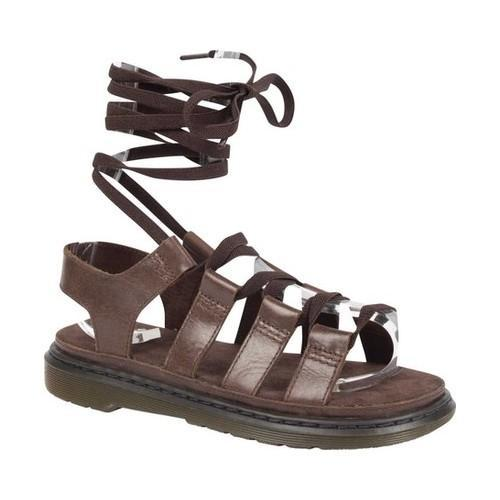 5aa391c4f538 Women  x27 s Dr. Martens Kristina Ghillie Sandal Dark Brown Oily Illusion  Full