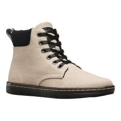 Women's Dr. Martens Maelly Padded Collar Boot Bone/Black Washed Canvas/Fine Canvas