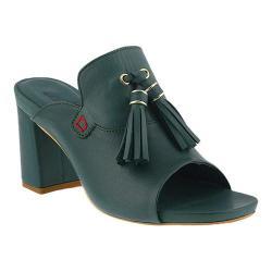 Women's Azura Brunilda Tassel Slide Sandal Teal Leather