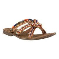 Women's Azura Triage Thong Sandal Tan Leather