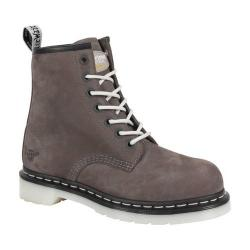 Women's Dr. Martens Maple Steel Toe Work Boot Grey Wind River Leather