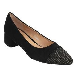 Women's Beston Lily-1 Pointed Toe Pump Black Faux Suede