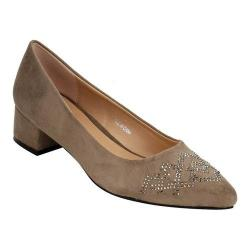 Women's Beston Lily-1 Pointed Toe Pump Taupe Faux Suede