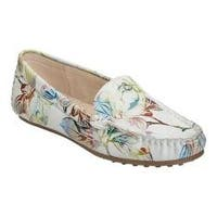 Women's Aerosoles Over Drive Loafer White Floral Suede