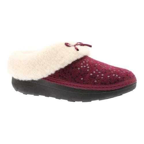 3106ee7d91a5e Shop Women s FitFlop Loaff Snug Slipper Deep Plum Sequin Felted Textile -  Free Shipping On Orders Over  45 - Overstock.com - 20110504