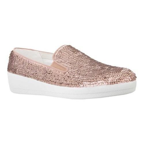 bc65312d3ccf Shop Women s FitFlop Superskate Loafer Nude Textile Sequins - Free Shipping  Today - Overstock.com - 20110511