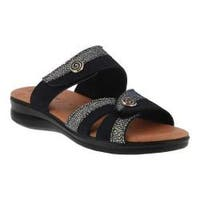 Women's Flexus by Spring Step Quasida Slide Sandal Navy Multi