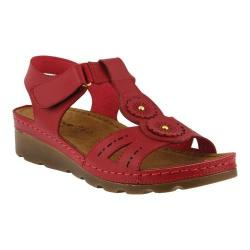 Women's Flexus by Spring Step Silas Strappy Sandal Red