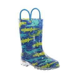 Boys' Western Chief Gators Galore Lighted Rain Boot Navy
