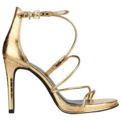 Women's Kenneth Cole New York Bryanna Strappy Sandal Gold Leather (More options available)
