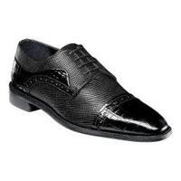 Men's Stacy Adams Rodrigo Cap Toe Oxford 25168 Black Leather