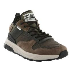 Men's Palladium Ax Eon Army Running Sneaker Major Brown/Beluga/Black Nylon/Neoprene/Suede