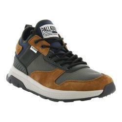 Men's Palladium Ax Eon Army Running Sneaker Mood Indigo/Dusty Olive/Beluga Nylon/Suede