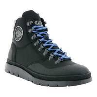 Men's Palladium Pallasider Mid Hiking Shoe Black/Black/Black Nylon/Synthetic Nubuck