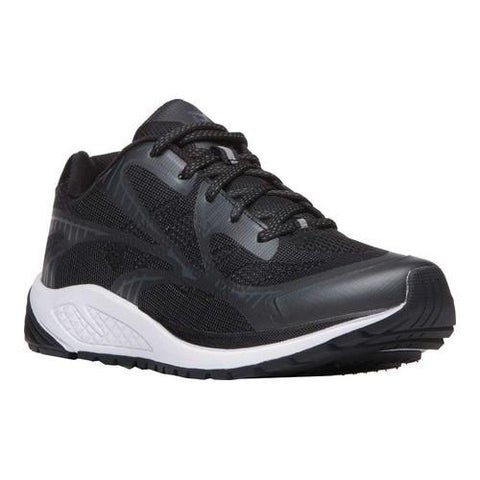 Men's Propet One Lightweight Sneaker Black/Grey Mesh