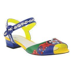 Women's Azura Danette Ankle Strap Sandal Blue Multi Synthetic