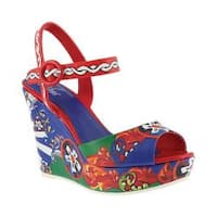 Women's Azura Stella Wedge Sandal Red Multi Synthetic